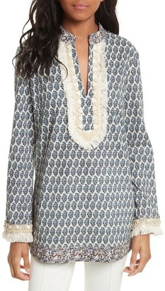 Women's Tory Burch Tory Embellished Tunic $298 thestylecure.com