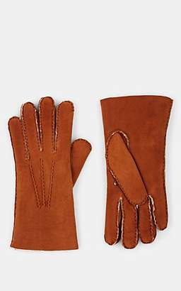 Barneys New York MEN'S SHEARLING-LINED LEATHER GLOVES - BEIGE/TAN SIZE 9