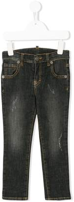 Douuod Kids light-wash fitted jeans
