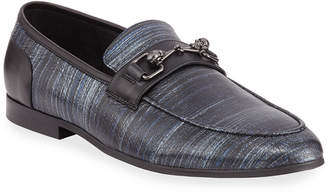 Robert Graham Yanni Metallic Skull Bit Loafers