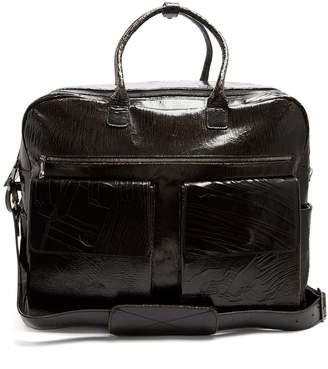 Marc Marmel Klondike cracked-leather holdall