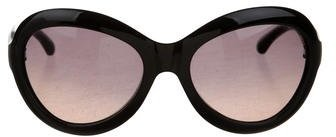 Jimmy Choo Jimmy Choo Tinted Oversize Sunglasses