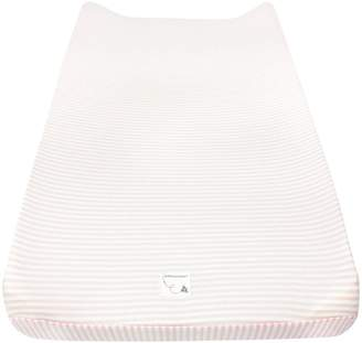 Burt's Bees Bee Essentials Striped Organic BEESNUG Changing Pad Cover