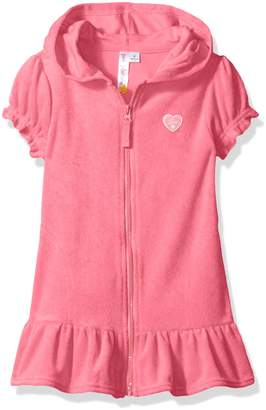 Pink Platinum Toddler Girls' Hooded Terry Swim Cover up