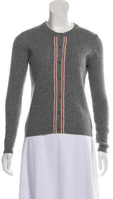 Valentino Cable Knit Lightweight Cardigan Grey Cable Knit Lightweight Cardigan