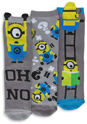 Disney Minions Three Pair Sock Set