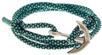 LINK-UP Teal Nylon Paracord Anchor Wrap Bracelet