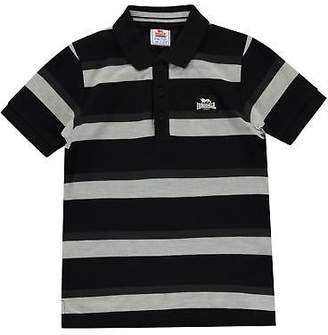 Lonsdale London Kids Boys Stripe Polo Junior Shirt Classic Fit Tee Top Short Sleeve
