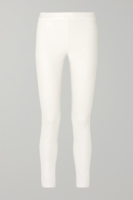 The Row Stratton Stretch Cotton-blend Leggings - White