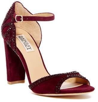 Badgley Mischka Kelley II Suede Block Heel Sandal
