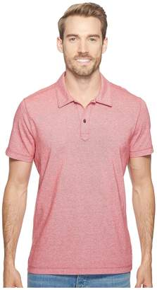 Agave Denim Short Sleeve Polo Italian Pique in Red Men's Clothing