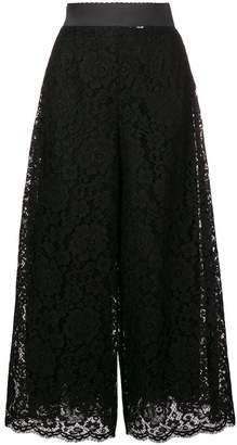 Dolce & Gabbana cropped floral lace trousers
