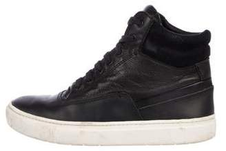 Vince Leather High-Top Sneakers