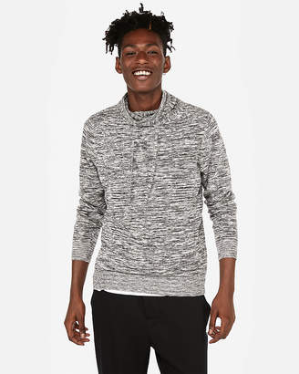 Express Space Dye Funnel Neck Sweater