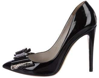 Emporio Armani Patent Leather High Heel Pumps
