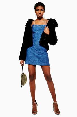 Topshop Tinsel Slip Dress