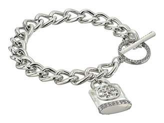 GUESS Chunky Chain Toggle Bracelet with Logo Padlock