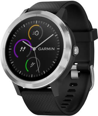 Garmin Unisex vivoactive 3 Black Silicone Strap Smart Watch 43mm