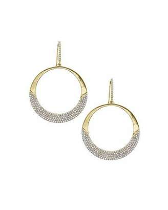 Lana 14k Flawless Small Diamond Crescent Hoop Earrings