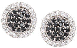 Jamie Wolf Scallop Pave Black & White Diamond Earrings