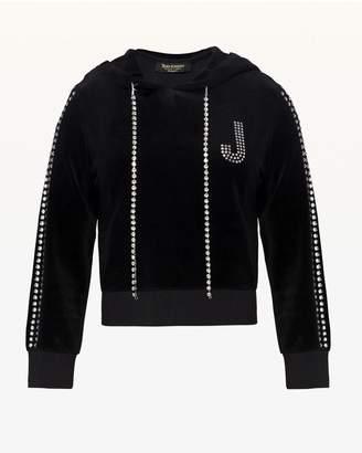 Juicy Couture Swarovski Embellished Velour Hoodie