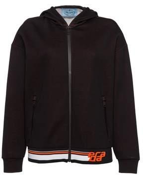 Prada Printed Technical Jersey Sweatshirt