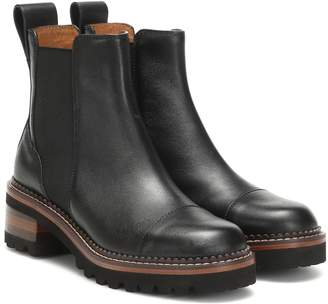 See by Chloe Mallory leather ankle boots