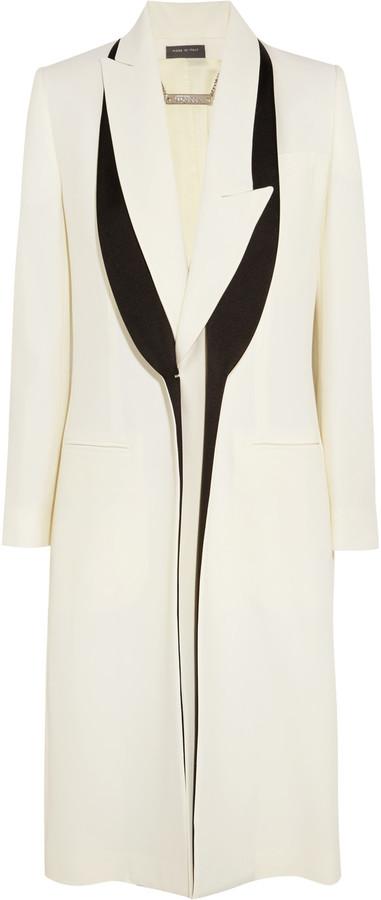 Alexander McQueenAlexander McQueen Satin-trimmed crepe blazer