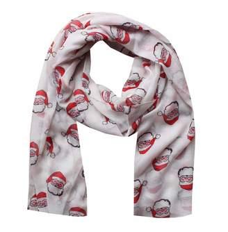 8f63511e0f813 ZipZappa Women Scarves, Wraps, Santa Claus Christmas Print, Lady Scarf Shawl