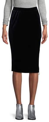 T Tahari Lorayna Velvet Skirt