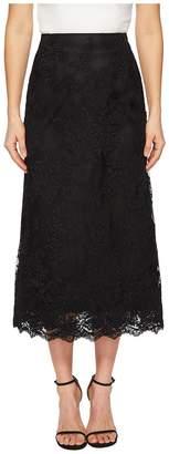 Marchesa Blush Corded Tea Length Lace A-line Skirt Women's Skirt