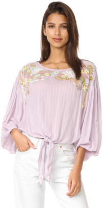 Free People Up And Away Embroidered Top $168 thestylecure.com