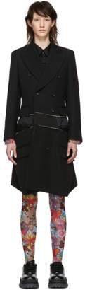 Comme des Garcons Black Wool Double-Breasted Coat