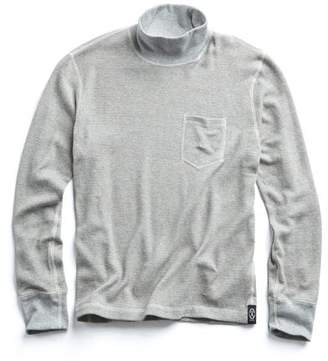 Todd Snyder Rice Thermal Turtleneck in Grey Mix