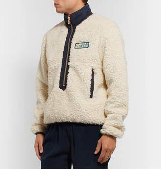 Holiday Boileau Yvon Logo-Appliqued Shell-Trimmed Fleece Half-Zip Jacket