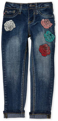 Vigoss Girls 4-6x) Embroidered Rose Ankle Skinny Jeans