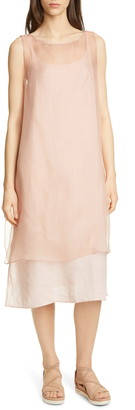 Eileen Fisher Sheer Silk Overlay