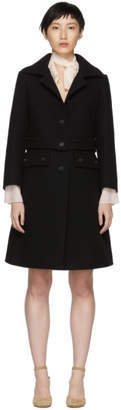 Chloé Black Button Coat