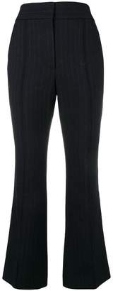 Joseph flared pinstripe trousers