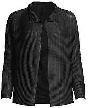 Issey Miyake Women's Wooly Pleated Jacket