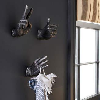 OKA Gesto Hand Decorations/Wall Hooks, Set of Three