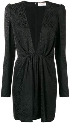 Saint Laurent V-neck fitted dress