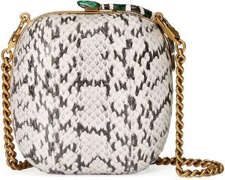 Broadway snakeskin clutch $2,980 thestylecure.com