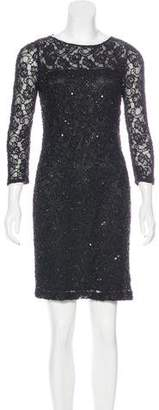Aidan Mattox Lace Beaded Dress