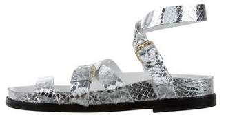 IRO Metallic Flat Sandals w/ Tags