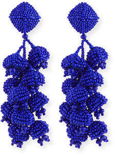 Sachin + Babi Grapes Beaded Clip Earrings