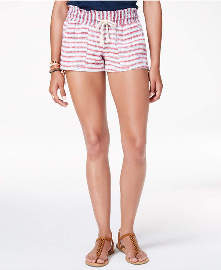 Roxy Juniors' Oceanside Flag Striped Shorts