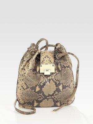 Snake-Print Crossbody Bag