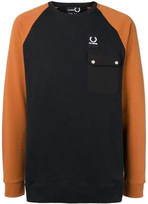 Fred Perry colour block sweatshirt