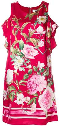 Blugirl off-the-shoulder floral dress